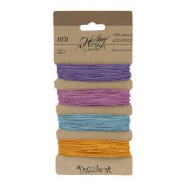 Stringing - .5mm Hemp Cord - Pastel Colours (Card)