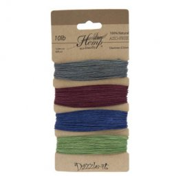 Stringing - .5mm Hemp Cord - Earth Tones (Card)