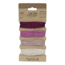 Stringing - .5mm Hemp Cord - Shades of Ruby (Card)