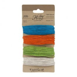 Stringing - 1mm Hemp Cord - Bright Colours (Card)