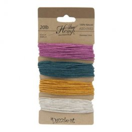 Stringing - 1mm Hemp Cord - Spring Colours (Card)
