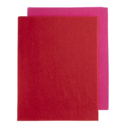 Bead Embroidery GoodFelt Beading Foundation 8.5x11in - Pink and Red (Pack 4)