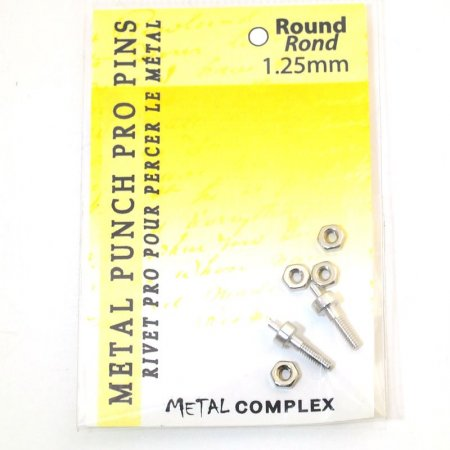 Tools - 1.25mm Replacement Pins for Hole Punch Plier - Round (2)