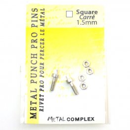 Tools - 1.5mm Replacement Pins for Hole Punch Plier - Square (2)