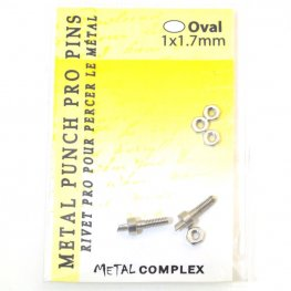 Tools - 1.7mm Replacement Pins for Hole Punch Plier - Oval (2)