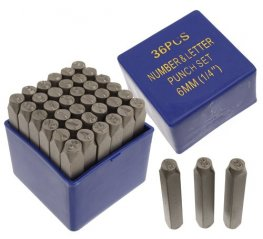 Tools - 6mm Shape Stamp/Punch Collection - UPPERCASE Basic (Set)
