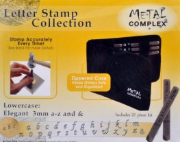 Tools - 3mm Letter Stamp/Punch Collection - Elegant Lowercase (Set)