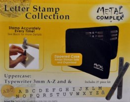 Tools - 3mm Letter Stamp/Punch Collection - Typewriter Uppercase (Set)