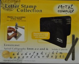 Tools - 4mm Letter Stamp/Punch Collection - Spiral Calligraphy Lowercase (Set)