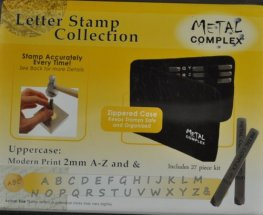 Tools - 2mm Letter Stamp/Punch Collection - Modern Print Uppercase (Set)