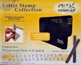Tools - 2mm Letter Stamp/Punch Collection - Playground Uppercase (Set)