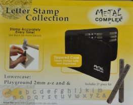 Tools - 2mm Letter Stamp/Punch Collection - Playground Lowercase (Set)
