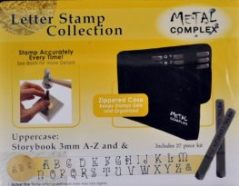 Tools - 3mm Letter Stamp/Punch Collection - Storybook Uppercase (Set)