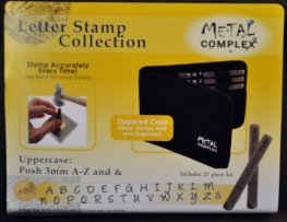 Tools - 3mm Letter Stamp/Punch Collection - Posh Uppercase (Set)