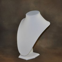 Display Stands - 23cm Bust Necklace Display - White Leatherette