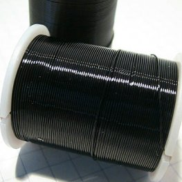 Wire - 26ga Round Wire - Black (Spool)