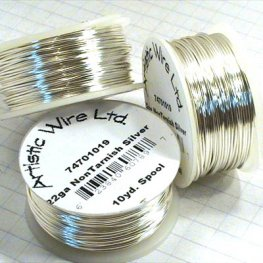 Artistic Wire - 22ga Round Wire - Silver Plated (Tarnish Resistant) (Spool)