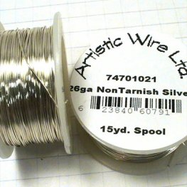 Artistic Wire - 26ga Round Wire - Silver Plated (Tarnish Resistant) (Spool)