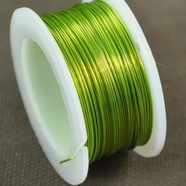 Artistic Wire - 26ga Round Wire - Silver Plated - Chartreuse (Spool)