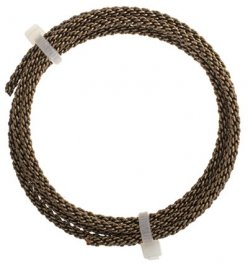 Artistic Wire - 10ga Braided Wire - Antiqued Brass (Pack)