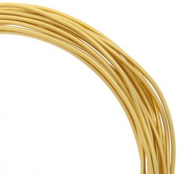 Aluminum Wire - 12ga Round Wire - Halo Gold (9.2 metres)