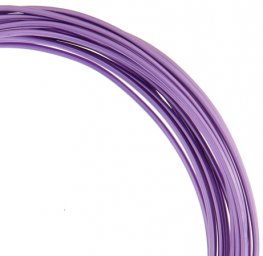 Aluminum Wire - 12ga Round Wire - Lilac (9.2 metres)