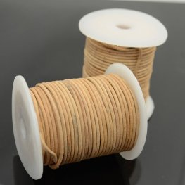 Stringing - 2mm Leather Cord - Natural (1 Metre)
