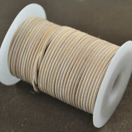 Stringing - 1.5mm Leather Cord - Natural (1 Metre)