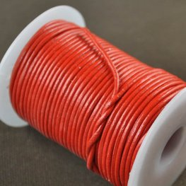 Stringing - 1.5mm Leather Cord - Chinese Red (25 meters)
