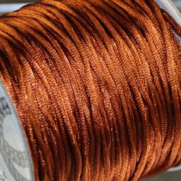 Rattail Cord - 1.5mm Satin Mousetail Cord - Copper (Spool)