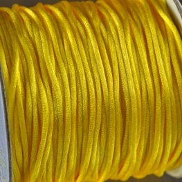 Rattail Cord - 1.5mm Satin Mousetail Cord - Yellow (Spool)
