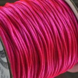Rattail Cord - 1.5mm Satin Mousetail Cord - Hot Pink (Spool)