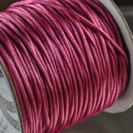 Rattail Cord - 1.5mm Satin Mousetail Cord - Strawberry Pink (Spool)