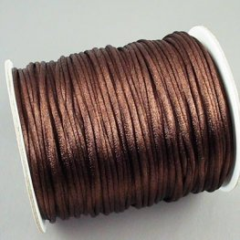 Rattail Cord - 2mm Satin Rattail Cord - Chocolate (Spool)