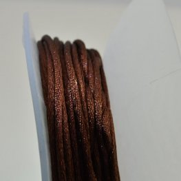 Rattail Cord - 2mm Satin Rattail Cord - Light Chocolate (20 yard bobbin)