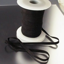 Stringing - 5mm Suede Ribbon - Black (Spool)