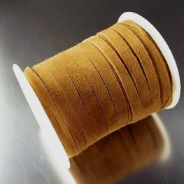 Stringing - 5mm Suede Ribbon - Caramel (Spool)