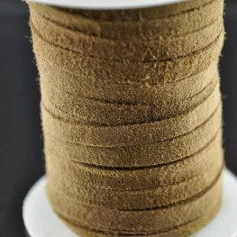 Stringing - 5mm Suede Ribbon - Khaki (Spool)