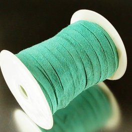Stringing - 5mm Suede Ribbon - Seafoam Green (Spool)
