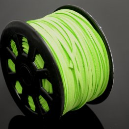 Leather Lacing - 2.7mm Faux Suede Lacing - Neon Green (Spool)