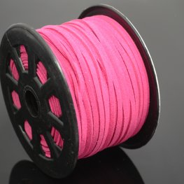 Leather Lacing - 2.7mm Faux Suede Lacing - Hot Pink (Spool)