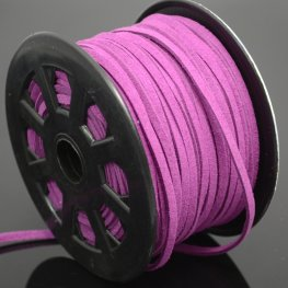 Leather Lacing - 2.7mm Faux Suede Lacing - Magenta Purple (Metre)