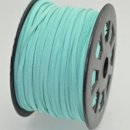 Leather Lacing - 2.7mm Faux Suede Lacing - Turquoise (Spool)