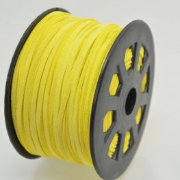 Leather Lacing - 2.7mm Faux Suede Lacing - Yellow (Spool)