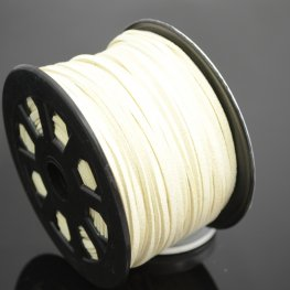 Leather Lacing - 2.7mm Faux Suede Lacing - Ivory Cream (Spool)