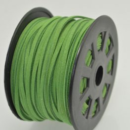 Leather Lacing - 2.7mm Faux Suede Lacing - Emerald (Spool)