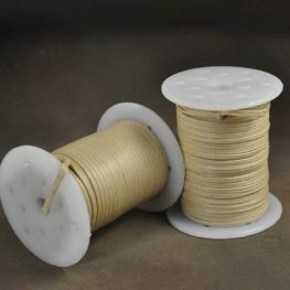 Cord - 3mm Flat Waxed Cotton Cord - Cream (Spool 50 M)