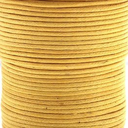 Cotton Cord - 1mm Round Waxed - Lemon (25m)