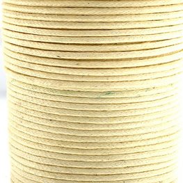 Cotton Cord - 1mm Round Waxed - Ivory (25m)