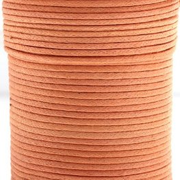 Cotton Cord - 1mm Round Waxed - Dark Orange (25m)